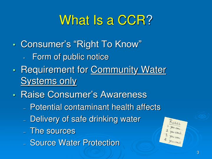 What is a ccr