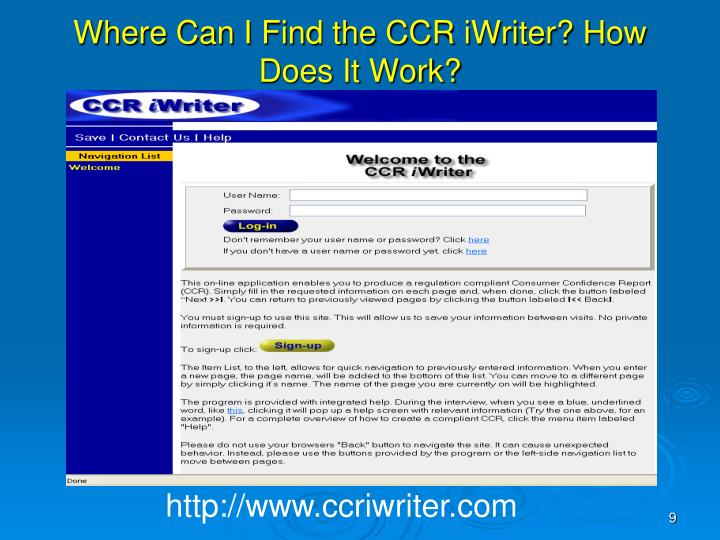 Where Can I Find the CCR iWriter? How Does It Work?