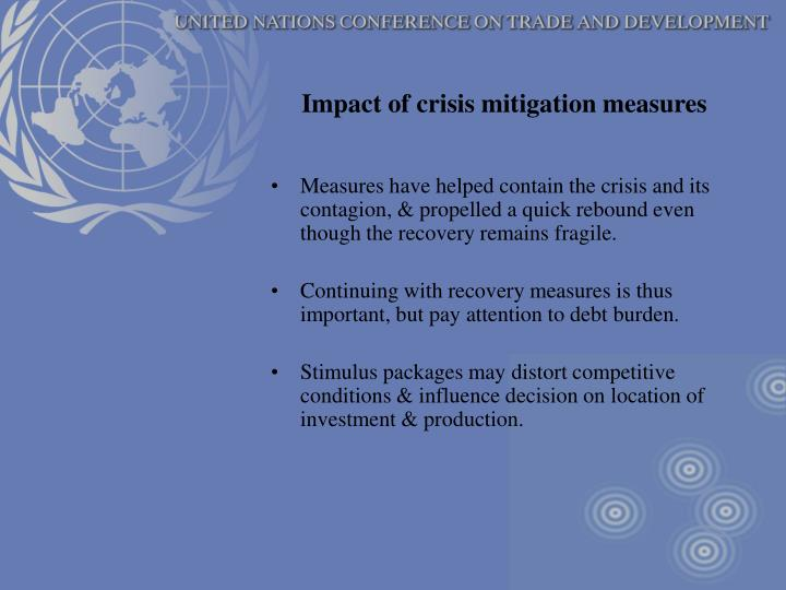 Impact of crisis mitigation measures