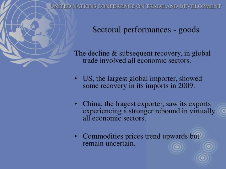 Sectoral performances - goods
