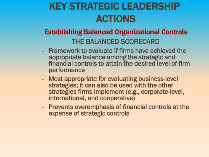 KEY STRATEGIC LEADERSHIP