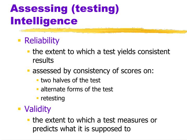Assessing (testing) Intelligence