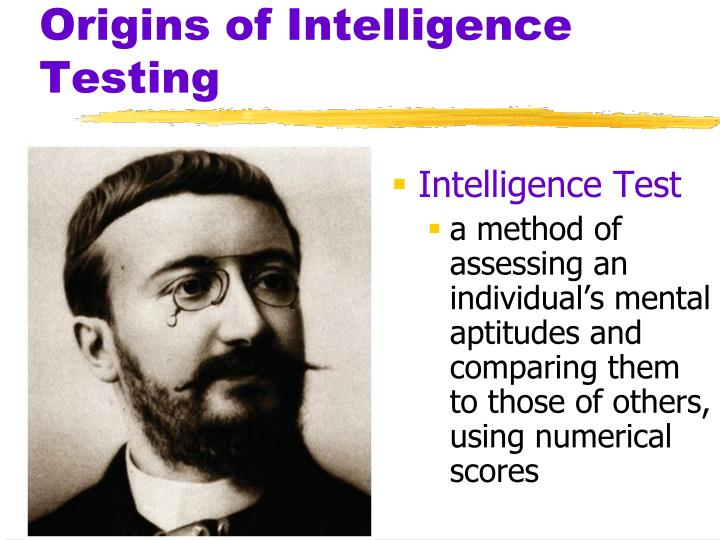 Origins of Intelligence Testing