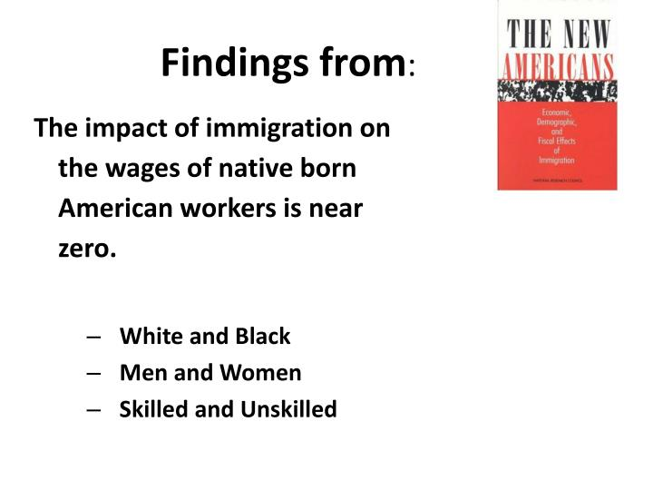 the impact of immigration on the future of united state of america Future immigration will change the face of america  a snapshot of the united states in  this slowed hispanic immigration also will have a longer-term impact: .