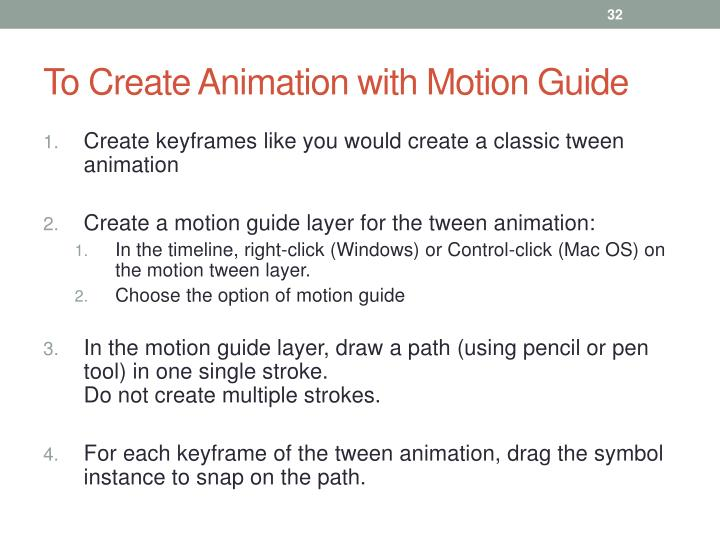 To Create Animation with Motion Guide