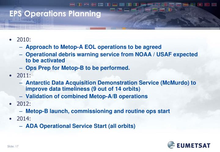 EPS Operations Planning
