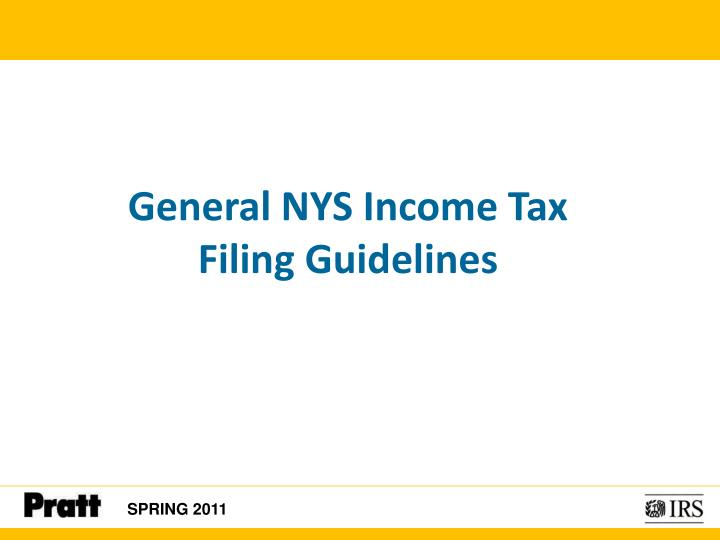 General NYS Income Tax
