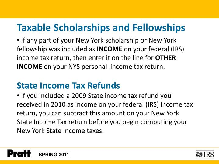 Taxable Scholarships and Fellowships