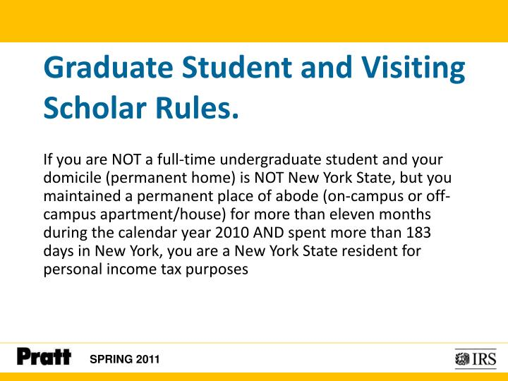 Graduate Student and Visiting Scholar Rules.