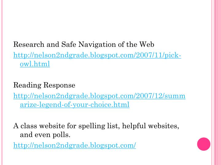 Research and Safe Navigation of the Web