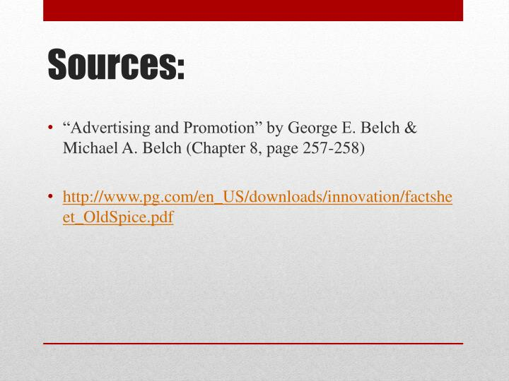 """Advertising and Promotion"" by George E. Belch & Michael A. Belch (Chapter 8, page 257-258)"