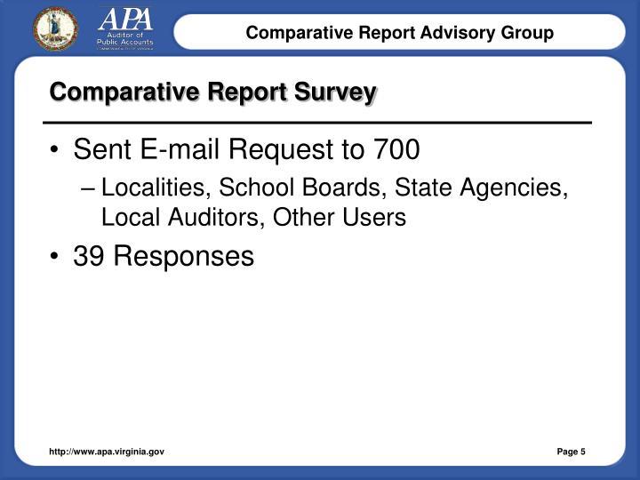 Comparative Report Survey