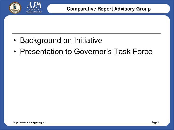 Background on Initiative