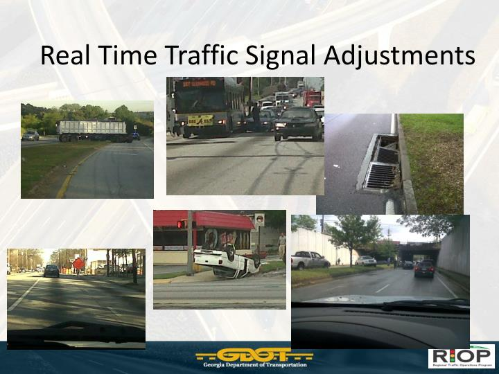 Real Time Traffic Signal Adjustments