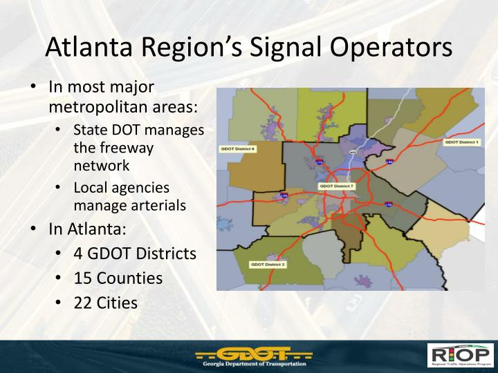 Atlanta Region's Signal Operators