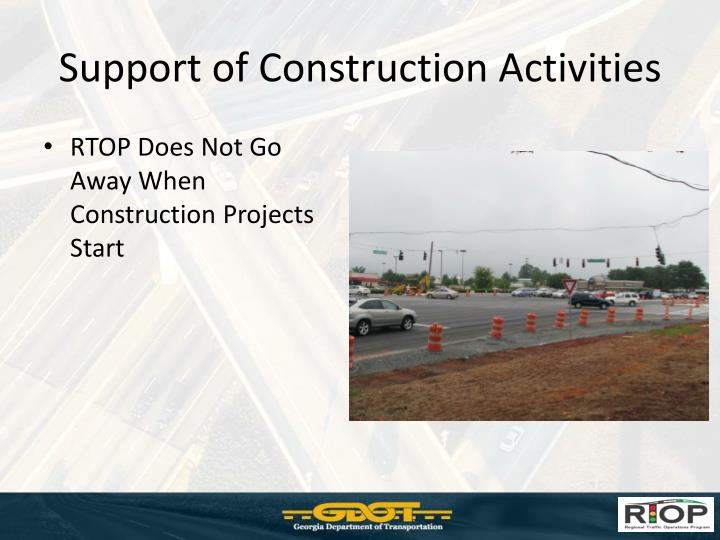 Support of Construction Activities