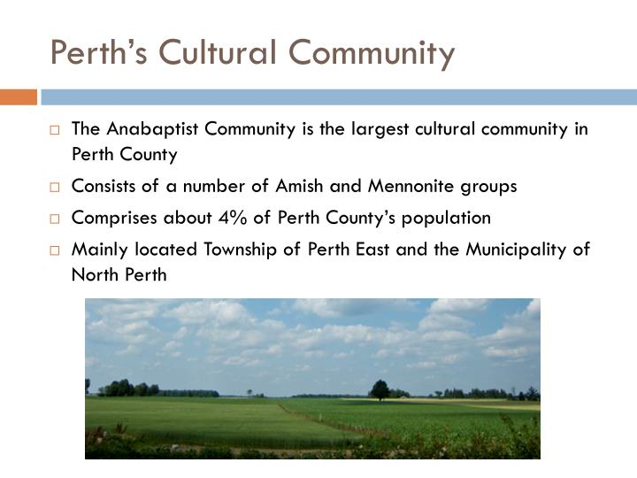 Perth's Cultural Community