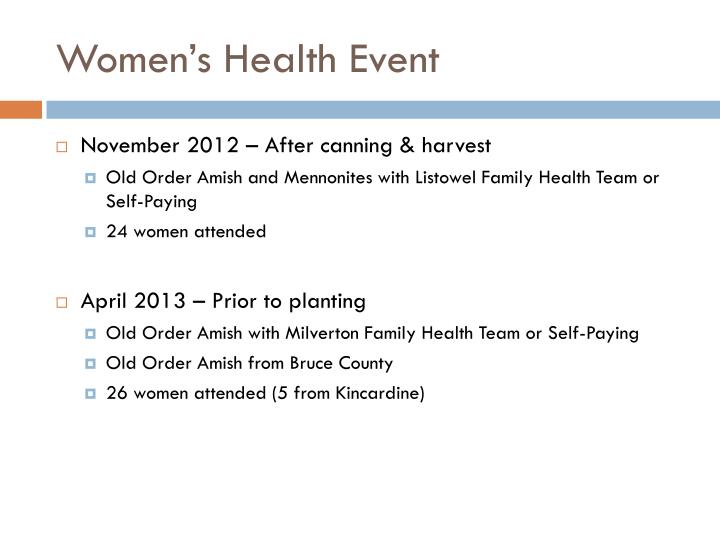 Women's Health Event