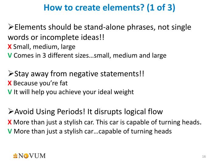 How to create elements? (1 of 3)