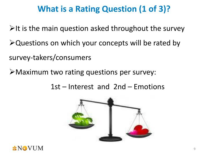 What is a Rating Question (1 of 3)?