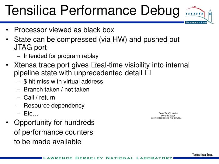 Tensilica Performance Debug