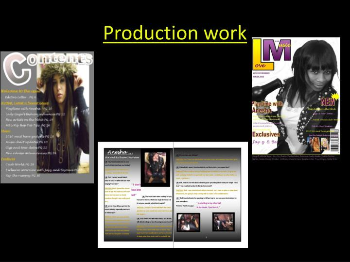Production work