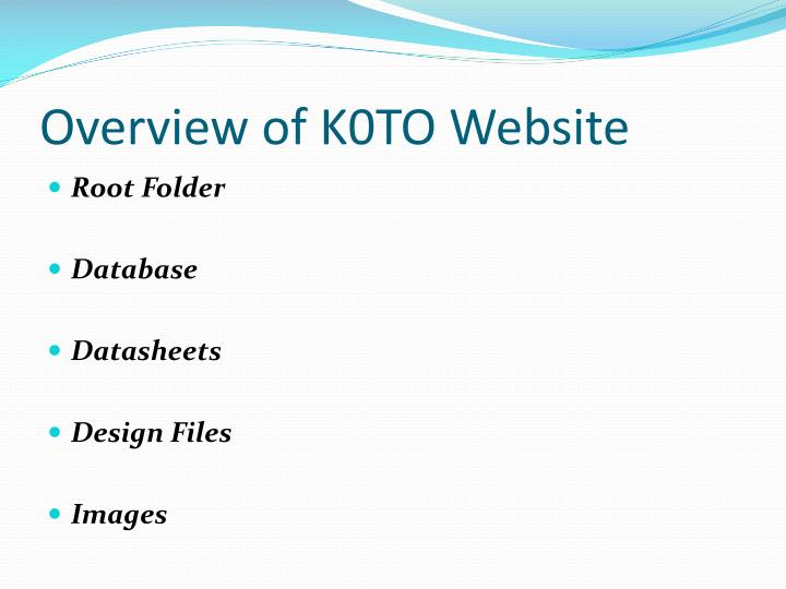 Overview of K0TO Website