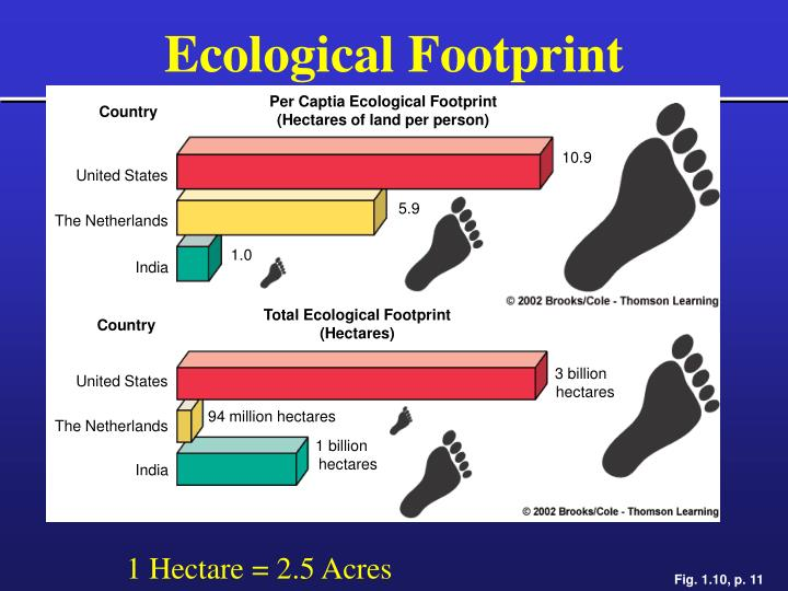 Per Captia Ecological Footprint
