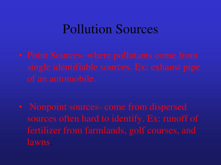 Pollution Sources
