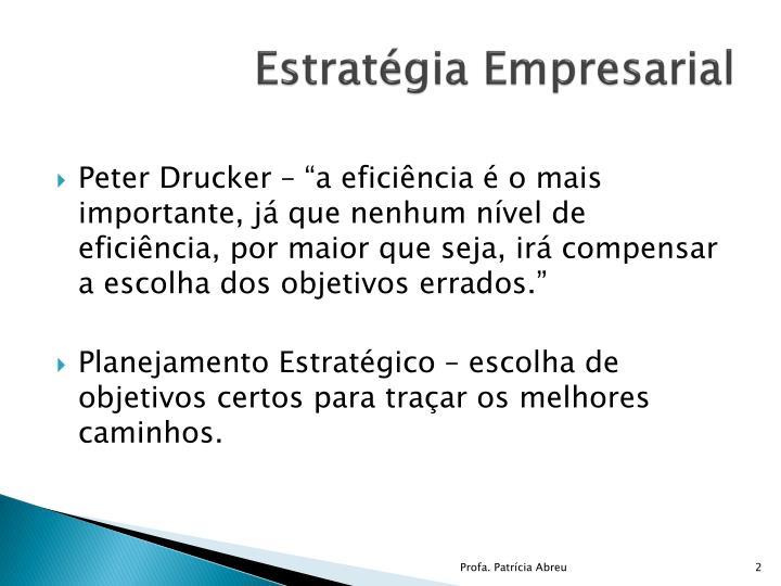 Estratégia Empresarial