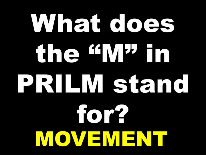 "What does the ""M"" in PRILM stand for?"