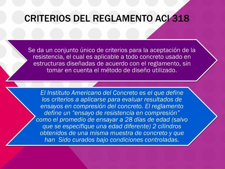 CRITERIOS DEL REGLAMENTO ACI 318
