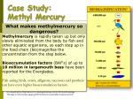 case study methyl mercury