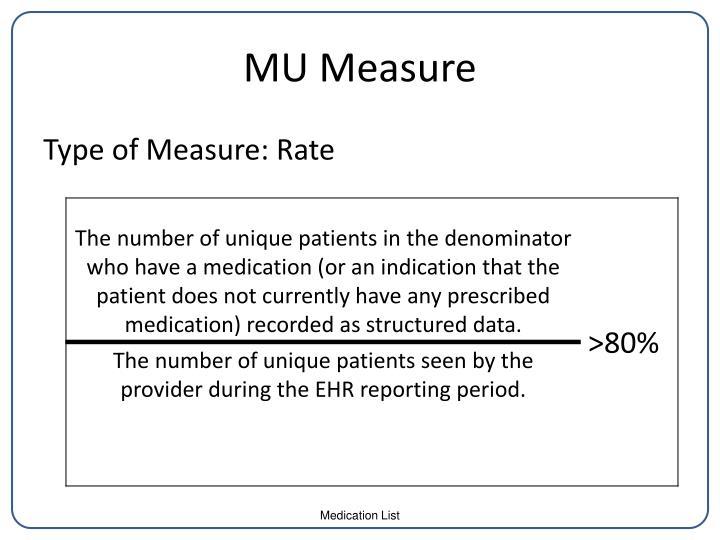 MU Measure