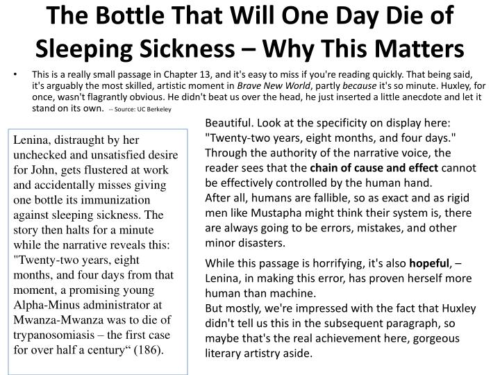 The bottle that will one day die of sleeping sickness why this matters
