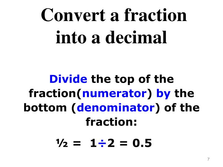 Convert a fraction
