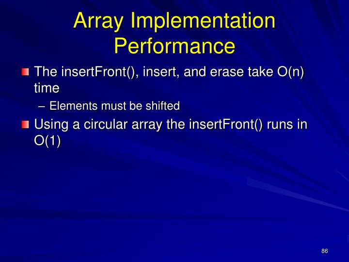 Array Implementation Performance