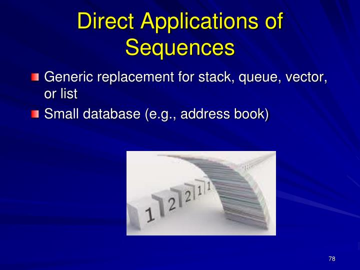 Direct Applications of Sequences