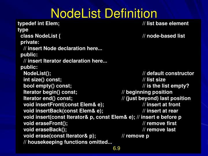 NodeList
