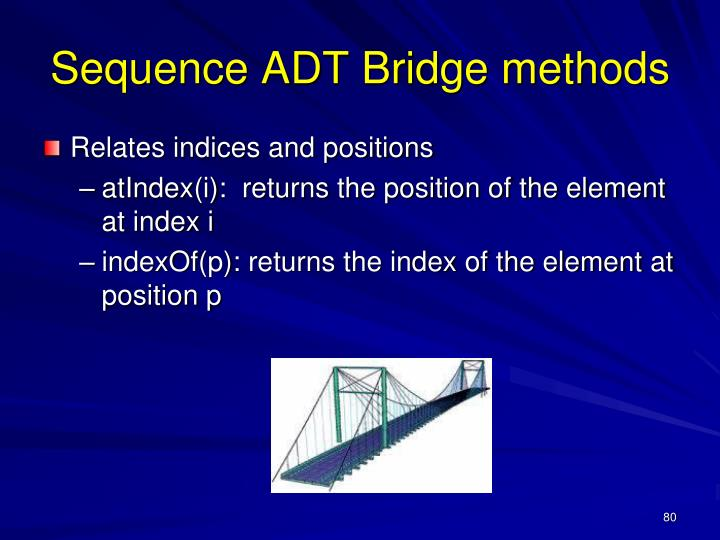 Sequence ADT Bridge methods