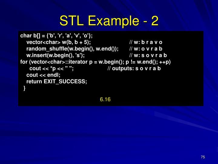 STL Example - 2