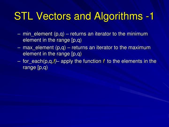 STL Vectors and Algorithms -1