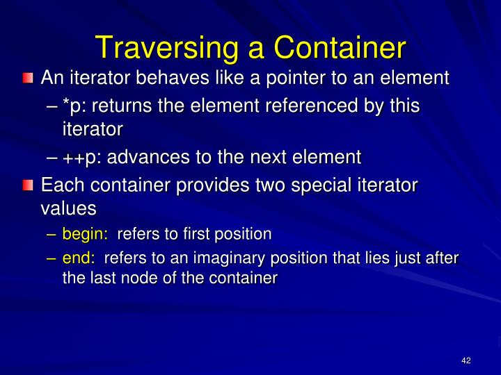 Traversing a Container