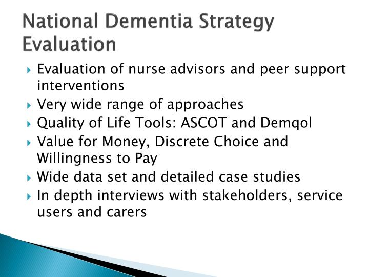 National Dementia Strategy Evaluation