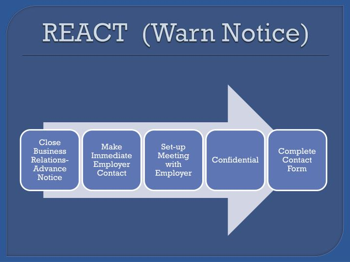 REACT  (Warn Notice)