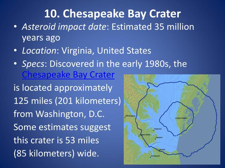 10. Chesapeake Bay Crater