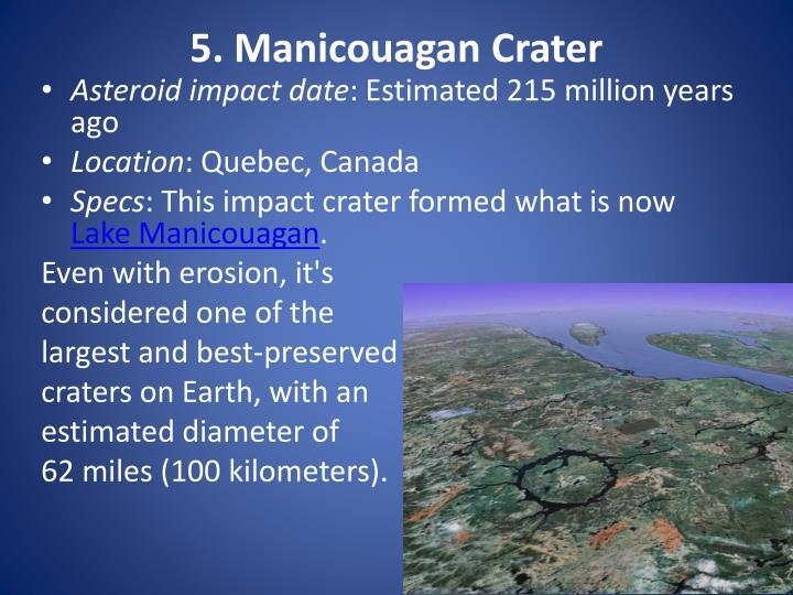 5. Manicouagan Crater
