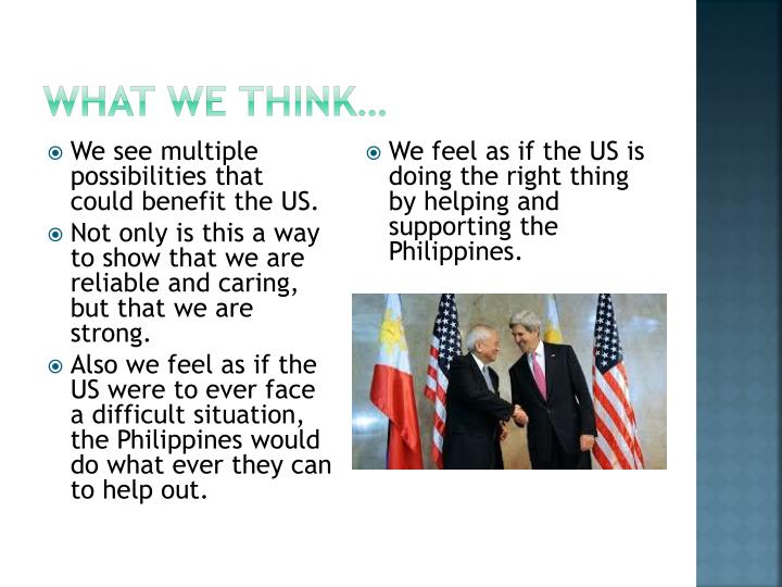 What we think…