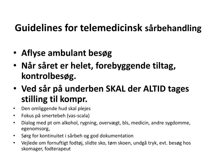 Guidelines for telemedicinsk