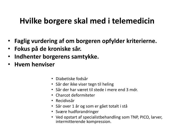 Hvilke borgere skal med i telemedicin